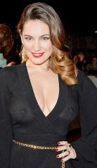 Kelly Brook shows boobs in see-through dress at NTAs - wardrobe malfunction - Oops - Big Boobs