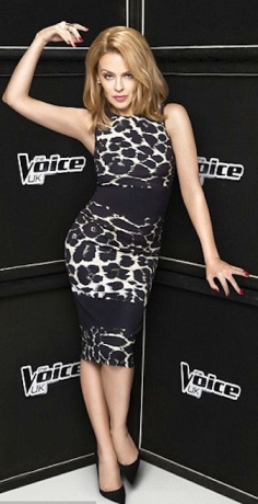 Kylie on The Voice - still sexy and hot at 45