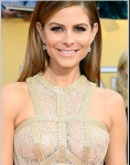 Maria Menounos in sexy gold and white lace outfit at SAGs