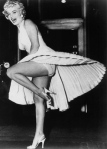 Marilyn Monroe upskirt shot in white dress from Seven Year Itch