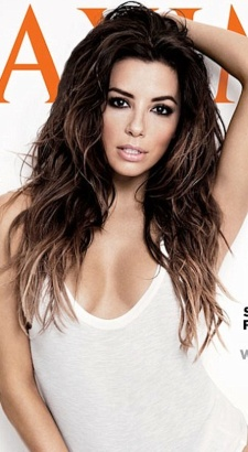 Maxim's 2014 Woman of the Year Eva Longoria shows cleavage on cover photo