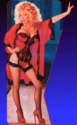 Dolly Parton in lingerie and stockings