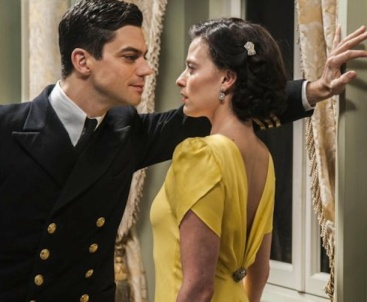 Dominic Cooper as Ian Fleming and Lara Pulver as Ann O'Neill