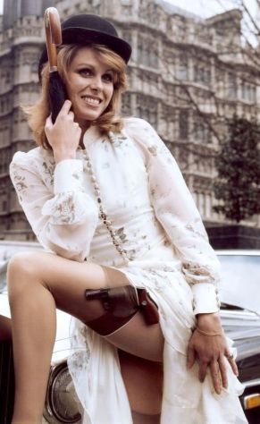 Joanna Lumley in stockings as Purdey from New Avengers