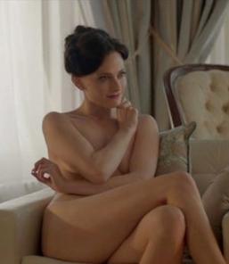 Lara Pulver naked in Sherlock as Irene Adler