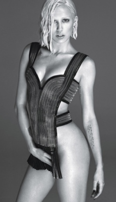 Miley Cyrus with no knickers on in W magazine 2014