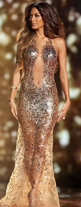 Nicole Scherzinger in sexy hot see-through outfit on X Factor live final