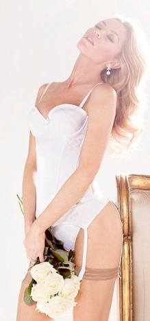 Sexy Bridal Lingerie - stockings, garter belt etc - modelled by Abbey Clancy for Ultimo