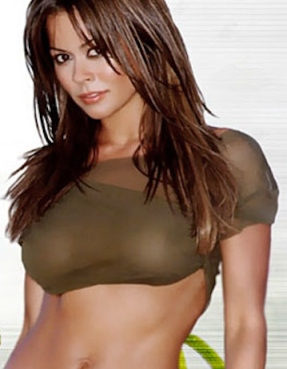 Sexy Brooke Burke Charvet showing great boobs under see-through top