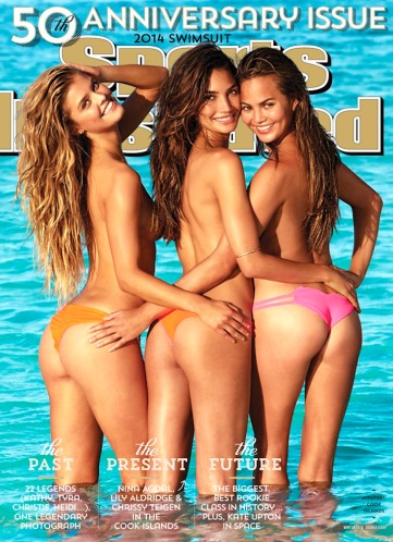 SI 50th Anniversary Issue - Nina Agdal, Lily Aldridge and Chrissy Teigen appear topless on cover