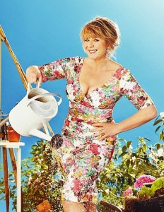 Fern Britton shows big cleavage for Big Allotment Show promo photo