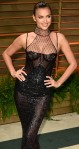 Irina Shayk shows her nipples in see-through black mermaid dress at Vanity Fair party