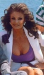 Kate O'Mara shows lots of cleavage as Laura Wilde in Howards Way