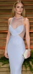 Rosie Huntington Whitley wears semi see-through white dress to Vanity Fair party
