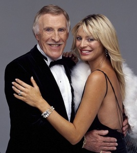 Bruce Forsyth and Tess Daly from Strictly Come Dancing Series 1 2004 - Tess in backless dress