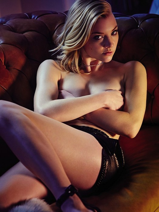 Game of Thrones Natalie Dormer topless holding breasts in hands