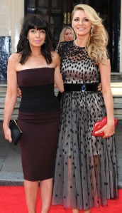 Claudia Winkleman and Tess Daly at 2014 BAFTAs