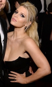 Jessica Simpson shows her cleavage and hot body - May 2014