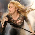 Shakira in sexy black see-through top at Billboard Awards