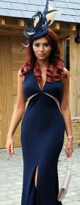 Amy Childs shows cleavage and nipples in saucy Royal Ascot dress