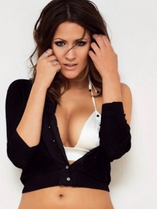 Caroline Flack is a cougar - showing cleavage in FHM photo