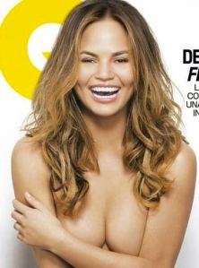 Chrissy Teigen nip slip on topless photo for GQ Mexico cover