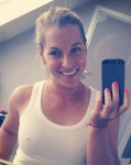 Dominika Cibulkova - tennis player selfie with stiff nipples
