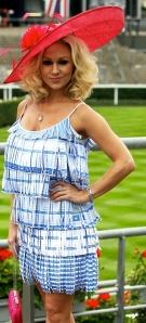Kristina Rihanoff in banned outfit at Royal Ascot