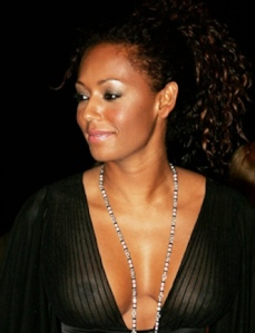 Mel B shows her nipples in see-through dress - Spice Girl
