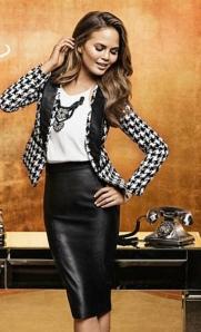 Chrissy Teigen in sexy secretary pose