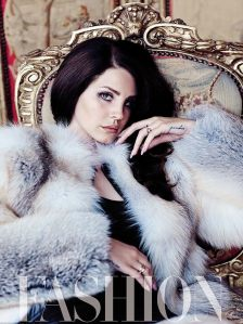 Lana Del Rey in glamour shot for Fashion magazine