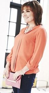 Lorraine Kelly models blouse in new range for older women