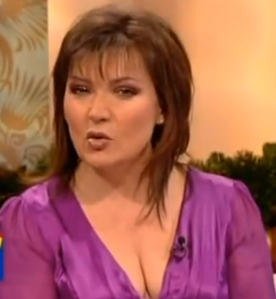 Flashing cleavage on GMTV
