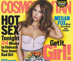 Megan Fox - sexy top and sexy eyes in Cosmo cover