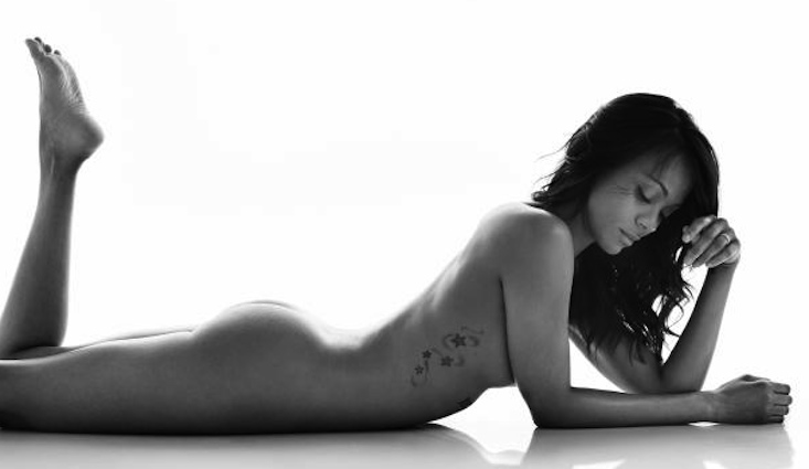 Zoe saldana nude magazine logically
