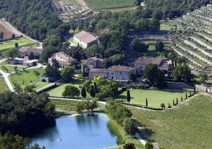 Aerial view of Chateau Miraval