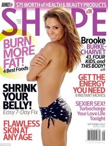 Brooke Burke topless on magazine cover - Shape September 2014