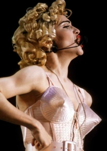 Madonna in Jean Paul Gaultier cone bra