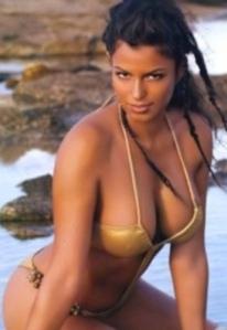 Sexy Fanny Neguesha in revealing bikini