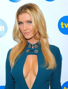 Sexy model Joanna Krupa showing lots of cleavage at Poland's Next Top Model