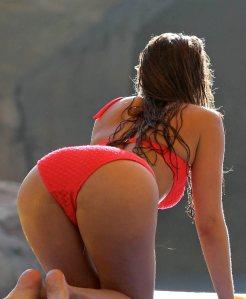 Ferne McCann looking sexy from behind in bikini
