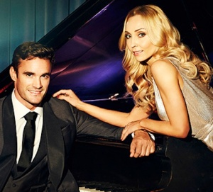 Iveta Lukosiute and Thom Evans - Strictly partners in Hello magazine