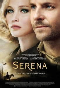 Official movie poster for Serena starring Jennifer Lawrence and Bradley Cooper.