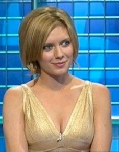 Sexy Rachel Riley showing cleavage on Countdown