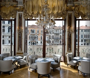 View from dining room of Aman Canal Grande Hotel, Venice