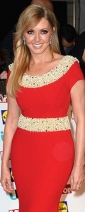 Carol Vorderman shows off hourglass figure in tight red dress at Pride of Britain Awards