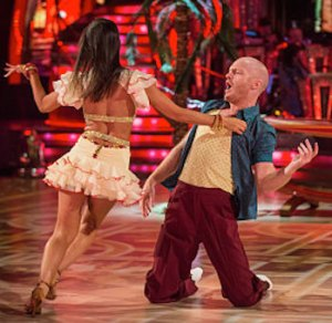 Jake Wood looking good in the salsa on Strictly Week 2