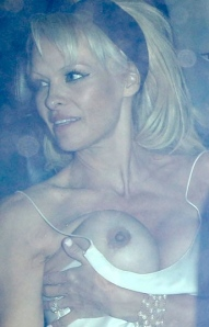 Pamela Anderson - big boobs and nipples escape in wardrobe malfunction