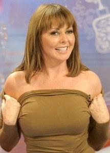 Carol Vorderman nipples showing through dress on Loose Women. Hot older woman.