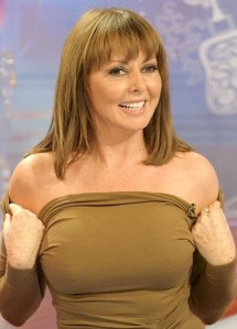 Carol Vorderman nipples showing through dress on Loose Women. Hot older woman.